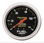 AutoMeter Pro-Comp 2-5/8 inch Mechanical Fuel Pressure Gauge, Liquid Filled, 0-15psi