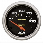 AutoMeter Pro-Comp 2-5/8 inch Electronic Short Sweep Oil Pressure Gauge 0-100psi