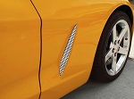 C6 Corvette 2005-2013 Perforated 2pc Side Vent Grilles - Finish Options