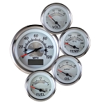 Vintage White Elite Series Gauge Kit - Kit Option