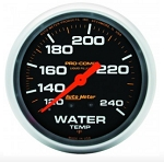 AutoMeter Pro-Comp 2-5/8 inch Mechanical Water Temperature Gauge, Liquid Filled, 120-240 deg F