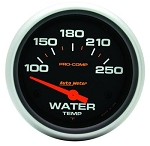 AutoMeter Pro-Comp 2-5/8 inch Electric Water Temp Gauge, Short Sweep, 100-250 deg F