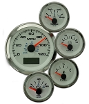 White Elite Series Gauge Kit - Kit Option