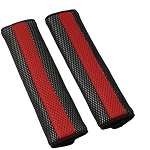2-Tone Neoprene & Nylon Padded Seat Belt Covers - Pair - Red/Black
