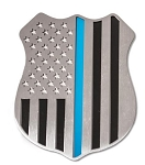 Police Shield 5 Inch Emblem - Finish Selection
