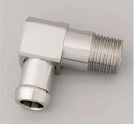 Stainless Steel Heater Hose Fittings - 90 Degrees w/ Size & Finish Options