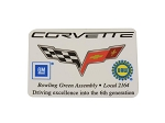 C6 Corvette 2005-2013 UAW Bowling Green GM Door Decal