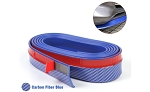 Carbon Fiber Look Front Splitter Trim - Blue - 8ft