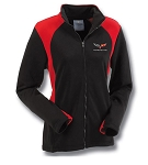 C6 Corvette Ladies Black and Red Bonded Hexport Jacket - Medium