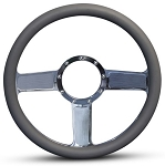 Linear Billet Steering Wheel w/ Polished Spokes - Color Options