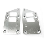 C2 C3 C4 Corvette 1963-1996 LS Swap LSX to SB Chevy Motor Mount Adapter Plates, Billet Aluminum -  Finish Options