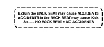 No Backseat No Accidents Decal