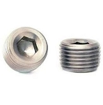 Stainless Steel Socket Head Plugs - Pair - Size Options