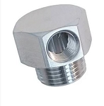 Stainless Steel Vacuum Fitting - Single Port w/ Finish Options