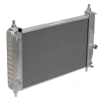 C6 Corvette Z06/Base 2005-2013 DeWitts Direct Fit Dual Row Radiator w/ Shortened Core for Blower Clearance