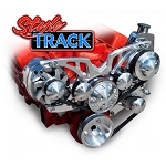 C3 Corvette 1968-1982 Style Track Chrome Alternator & Power Steering Serpentine System - All Inclusive Kit