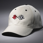 C3 Corvette 1968-1982 Heritage Crossed Flags Cap - Stone/Black