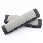 Leather Two-Tone Seat Belt Pad Covers - Sold as Set of 2 - Multiple Color Options