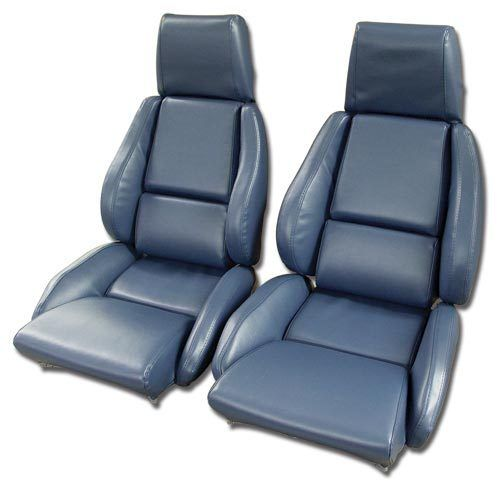 C4 Corvette 1984-1996 Leather-Like Seat Covers - Pair - Mounted Optional