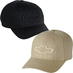 Chevrolet Bowtie Tone on Tone Cap - Black & Khaki Color Option