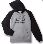 Chevrolet Vintage Hooded Sweatshirt w/ Bowtie & Script - Gray / Black