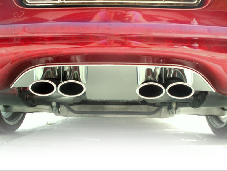 C5 Corvette 1997-2004 Exhaust Filler Panel - Solid Polished