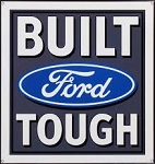 Built Ford Tough Neon Sign w/ Backing - 24w x 24h x 4d