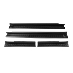 2007-2017+ Jeep Wrangler JK Front & Rear Entry Door Sill Plate Protectors / Guards - 4 Door - 4pc
