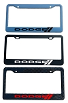 Dodge Brand Script License Plate Frame - Color/Finish Selections