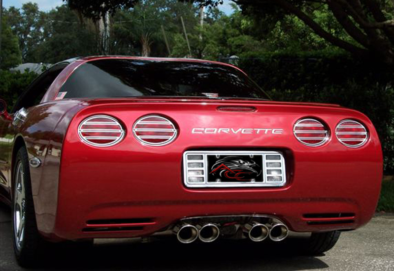 C5 Corvette Base/Z06 1997-2004 4-Piece Slotted Tail Light Grille Set