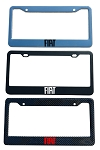 Fiat Brand Script License Plate Frame - Color/Finish Selections