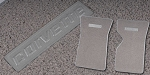 C3 Corvette 1976-1982 Floor Mats with Embossed Corvette Lettering - Cut-Pile