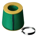 Green Foam Race Performance Dry High Flow Cone Air Filter Replacement - Oil Free - 4 Size Options