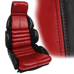 C4 Corvette 1984-1996 100% Leather 2-Toned Sport Seat Covers - Pair - w/ Embroidered Logo Options