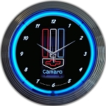 Gen 5 Gen 6 Camaro 2010-2016+ Neon Wall Clock - 15in