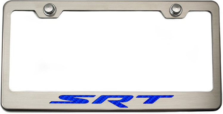 2008-2017+ Dodge Challenger Brushed Stainless Steel License Plate ...