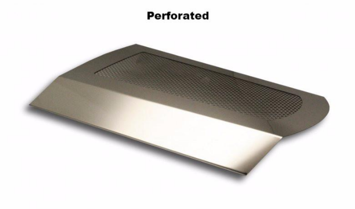 2009-2017 Dodge Challenger 5 7L Perforated Stainless Steel Plenum Cover w/  Polished Mirror-Like Finish