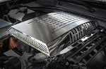 2015-2017 Dodge Challenger Hellcat Polished & Brushed Stainless Steel Plenum / Supercharger Engine Cover