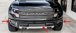 2010-2014 Ford Raptor Stainless Steel Laser Mesh Lower Front Grille Kit - 3pc