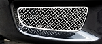 2010-2014 Ford Raptor Polished Stainless Steel Laser Mesh Outer Fog Light Grille - 2pc