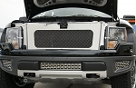 2010-2014 Ford Raptor Brushed Stainless Steel Woven Mesh Front Radiator Fascia Grille