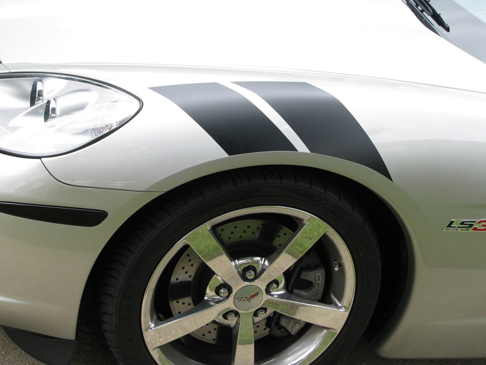 Dodge Challenger 2007 >> C6 Corvette 2005-2013 Grand Sport-Style Fender Accent Stripes | Modern Gen Auto
