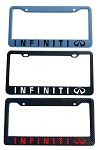 Infiniti Brand Script License Plate Frame - Color/Finish Selections