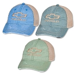 Ladies Chevrolet Bowtie Distressed Mesh Cap