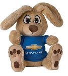 Plush Bunny Toy with Chevrolet Shirt