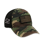 Chevrolet Bowtie Tactical Camo Cap with Flag Patch