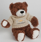 Josh Bear with Chevrolet Gold Bowtie Beige Sweater