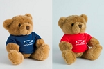 Brown Plush Teddy Bear with Chevrolet Bowtie Sweater