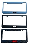 Jeep Brand Script License Plate Frame - Color/Finish Selections