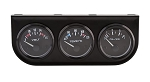 Three 2 Inch Electronic Gauge Kit - Voltmeter, Water Temp, Oil Pressure